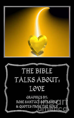 Photograph - My The Bible Talks About Love Book by Rose Santuci-Sofranko
