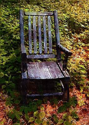 My Thinking Chair Art Print by RC deWinter