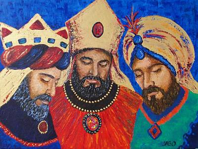 My Three Wise Kings Art Print by Yamelin Gonzalez-Ortiz