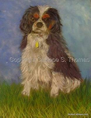 Pastel - My Tri-colored Cavalier by Calliope Thomas