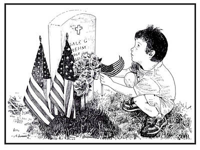 Memorial Day Drawing - My Tribute by Joseph Juvenal