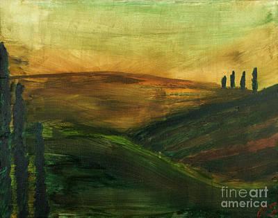 Tuscan Hills Painting - My Tuscany  by Katy  Scott