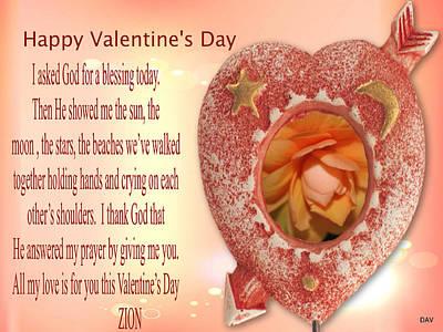Photograph - My Valentine Is A Peach by Debra     Vatalaro