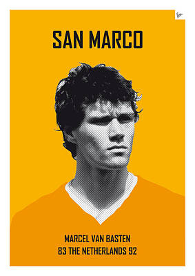 My Van Basten Soccer Legend Poster Art Print by Chungkong Art