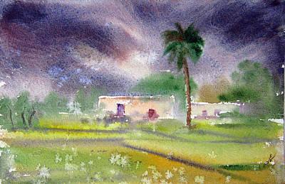 Nca Painting - My Village by M Kazmi