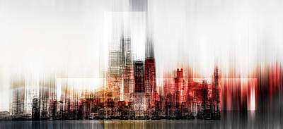 Abstract Skyline Wall Art - Photograph - My Vision by Carmine Chiriac??