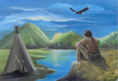 Native Americans Painting - My Vision by Catherine Swerediuk