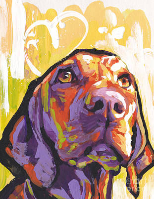 Hungarian Painting - My Vizsla Heart by Lea S
