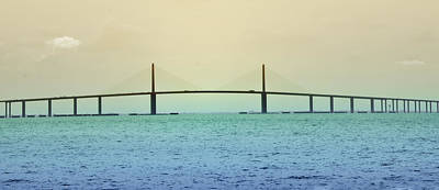 Florida Bridge Digital Art - My Way Or The Skyway by Bill Cannon