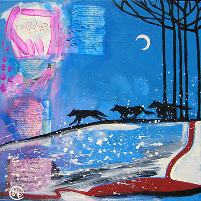 Inner World Painting - My Wildish Nature by Cat Athena Louise