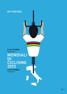 Bicycling Digital Art - My World Championships Minimal Poster by Chungkong Art