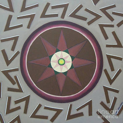 Art Print featuring the painting My Yantra by Mini Arora