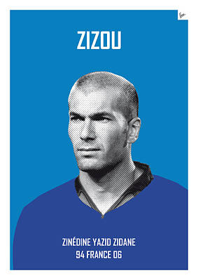 Barcelona Digital Art - My Zidane Soccer Legend Poster by Chungkong Art