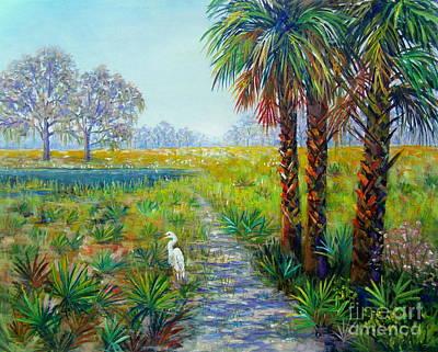 Painting - Myakka Heron by Lou Ann Bagnall