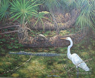 Sandra Williams Painting - Myakka Shadows by Sandra Williams