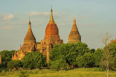 Myanmar Bagan Red Brick Temple Glows Art Print