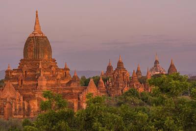 Myanmar Bagan Temples Of Bagan Art Print