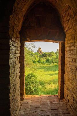 Myanmar Bagan View Of Some Pagodas Art Print