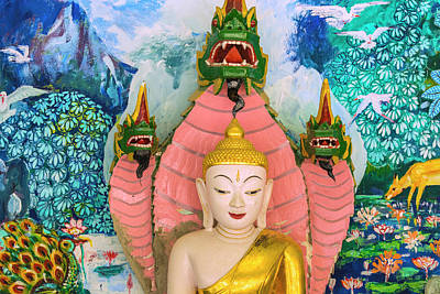 Mural Photograph - Myanmar Mandalay Sagaing Hill Soon U by Inger Hogstrom