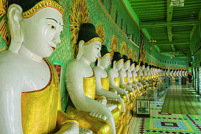 Repetition Photograph - Myanmar Mandalay Sagaing Hill U Min by Inger Hogstrom