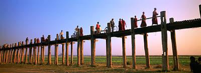 Asian Culture Photograph - Myanmar, Mandalay, U Bein Bridge by Panoramic Images