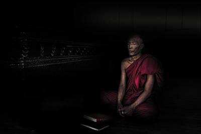 Introspection Photograph - Myanmar - Meditation by Michael Jurek