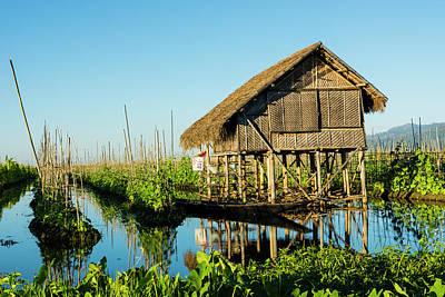 Myanmar Photograph - Myanmar Shan State Inle Lake Floating by Inger Hogstrom