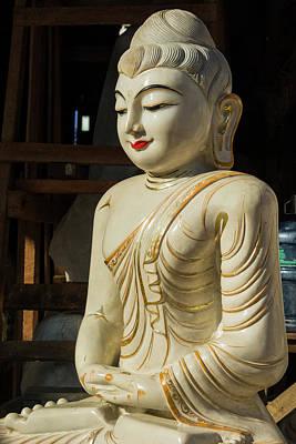 Myanmar Yangon Ceramic Buddha Art Print by Inger Hogstrom