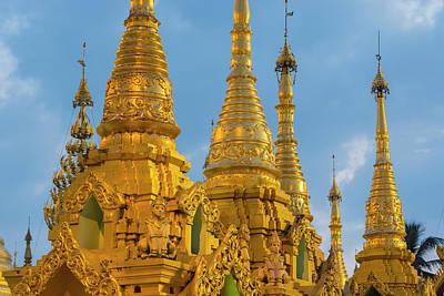 Myanmar Yangon Shwedagon Pagoda Golden Art Print by Inger Hogstrom