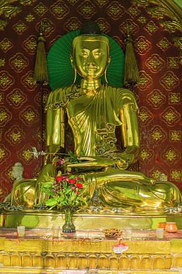 Myanmar Yangon Sule Pagoda Golden Buddha Art Print by Inger Hogstrom