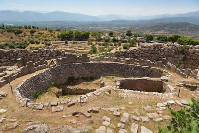 Acropolis Photograph - Mycenae, Argolis, Peloponnese, Greece by Panoramic Images
