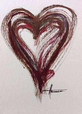 Myeloma Awareness Heart Art Print