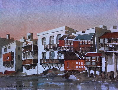 Mixed Media - Mikynos Greece by Val Byrne