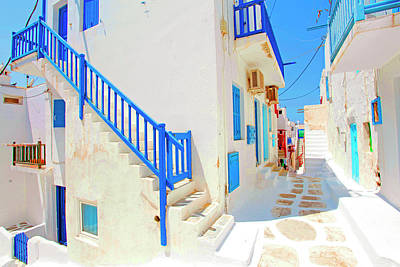 Mykonos Photograph - Mykonos IIi (from The Series postcards From Greece) by Dieter Matthes