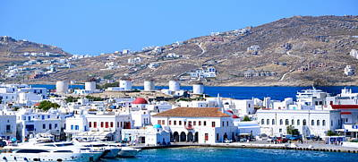 Photograph - Mykonos Port by Corinne Rhode