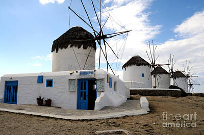 Photograph - Mykonos Windmills by Haleh Mahbod