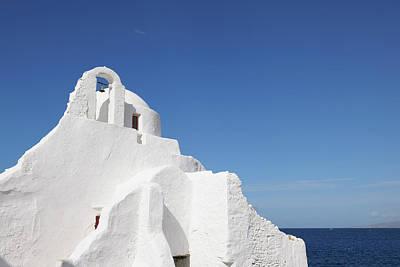 Mykonos Photograph - Mykonos,paraportiani Church by Y dragon