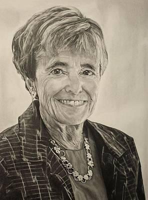 Alyssa Drawing - Myra Kraft by Alyssa Kerr