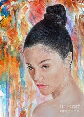 Drawing - Myra Molloy Winner Of Thailand Got Talent II by Jim Fitzpatrick