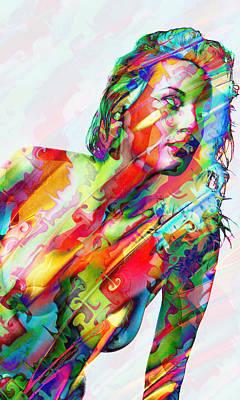 Fine Art Of Women Mixed Media - Myriad Of Colors by Kiki Art