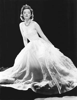 Myrna Photograph - Myrna Loy In A White Souffle Evening by Everett