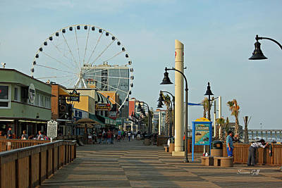 Photograph - Myrtle Beach Boardwalk by Suzanne Gaff
