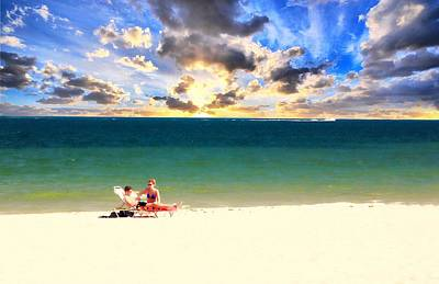 Photograph - Myrtle Beach Couple Sunbathing by Bob Pardue