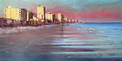Painting - Myrtle Beach Evening by Dan Nelson