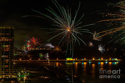 Photograph - Myrtle Beach Fireworks by Mark East