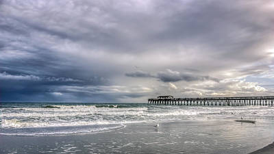 Myrtle Beach Fishing Pier Art Print