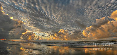 Myrtle Beach Panorama 2 Art Print by Jeff Breiman