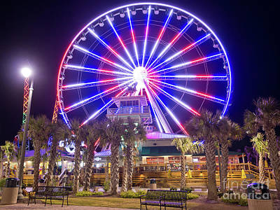 Photograph - Myrtle Beach Sky Wheel by Mike Covington