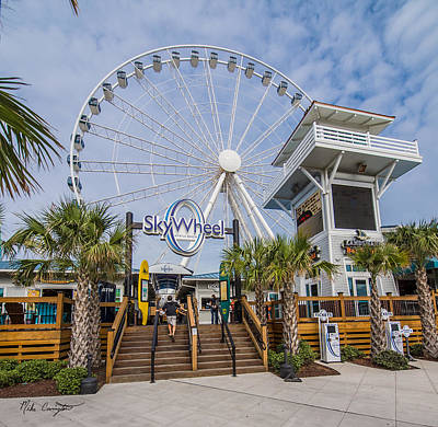 Photograph - Myrtle Beach Skywheel 2 by Mike Covington