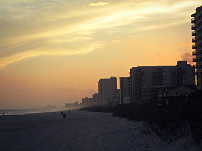 Photograph - Myrtle Beach Sunset by Amber Summerow